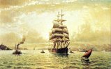 AMERICAN CLIPPER SHIP At Golden Gate, San Francisco By Coulter 19th Century Unused - Sailing Vessels