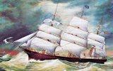 FREEMAN CLARK Built 1865 By Sewall, Painting At Maine Maritime Museum Bath Unused - Sailing Vessels