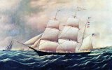 GOLDEN GATE, Down East Clipper, Built For California Gold Rush, 19th Century Artist Unknown Unused - Sailing Vessels