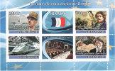 GUINEA BISSAU 2008 - 50 ANOS DE CONVENCAO DE ROMA -  FRANCIA  -TRATTATI DI ROMA 1957 - BF INTEGRO - Guinea-Bissau