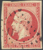 # France   20b, Used, 4 Good Margins,  Sound, Bright Rose,  (fr020-11, Michel 16   [16-GE - 1853-1860 Napoleon III