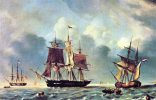 AMERICAN & FRENCH SHIPS 19th Century, Artist Unknown Unused - Sailing Vessels
