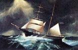 THE EASTERN STAR, American, 19th Century, Artist Unknown Unused - Sailing Vessels
