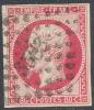 # France 20b, Used, 4 Good Margins, Sound, Bright Rose, (fr020-4, Michel 16 [16-GE - 1853-1860 Napoleon III