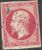# France 20b, Used, 4 Good Margins, Sound, Bright Rose, (fr020-27, Michel 16 [16-GE - 1853-1860 Napoleon III