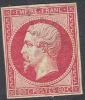 # France 20b, Used, VF, Sound, Bright Rose, (fr020-28, Michel 16 [16-GE - 1853-1860 Napoleon III