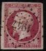 # France 20, Used, 4 Margins, Sound (fr020-30, Michel 16 [16-DG - 1853-1860 Napoleon III