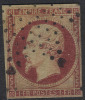 # France 21, Michael 17b Dunkelkarmne Variety, Used,4 Mgns., RARE (fr021-11, Michel 17b , [16-CBRT - 1853-1860 Napoleon III