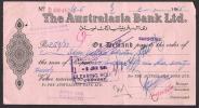 PAKISTAN Old Cheque Of The Australasia Bank Ltd. SARGODHA 2-1-1965 - Bank & Insurance
