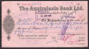 PAKISTAN Old Cheque Of The Australasia Bank Ltd. SARGODHA 4-1-1965 - Bank & Insurance