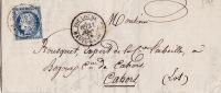 5146# Y&T N° 60 CERES / LETTRE Obl TOULOUSE HAUTE GARONNE 21 Juin 1876 T18 Pour CAHORS LOT - 1849-1876: Période Classique