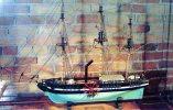 Model Of SS SAVANAH, First Vessel Using Steam To Cross Atlantic, 1819, Ships Of The Sea Museum, Savannah, Georgia Unused - Sailing Vessels