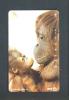 JAPAN  -  Magnetic Phonecard/Animal/Monkeys As Scan - Japan