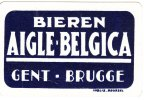 Speelkaart Bieren Aigle Belgica Gent Brugge Inglis Brussel Playing Card Dos Carte RARE - Unclassified
