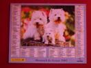Calendrier ALMANACH PTT DU FACTEUR - LA POSTE - 2003 - Chiens - OBERTHUR - Seine Saint Denis 93 - Excellent état - Calendari