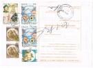 Italia Storia Postale 9.2.93  Roma/Palermo Affr. £. 3.200 Genova´92 +  2 X £. 750 + 2 X £. 200 +£.50 - 6. 1946-.. Repubblica
