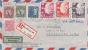 Brief Zweden Registered Mail To USA - ... - 1855 Préphilatélie