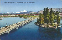 AK Genf Genève Pont Du Mont Blanc Color 1933 #04 - GE Genève