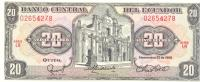 20 Sucres, Date 29.04.1986, P-121Aa, UNC - Ecuador
