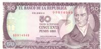 50 Pesos Oro, Date 12.10.1984, P-425a, UNC - Colombia