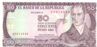 50 Pesos Oro, Date 12.10.1984, P-425a, UNC - Colombie
