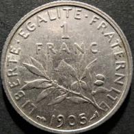 1 Franc Semeuse 1905, TTB - France