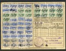1906: Saarburg I.L., Quittungskarte Mit Diversen Beitragsmarken - Briefe U. Dokumente