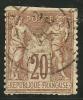 FRANCE - Yvert - 67 - Cote 15 € - Dentelures ????? - 1876-1878 Sage (Type I)