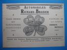 Publicité 1905 Automobiles RICHARD - BRASIER (gagnant De La Coupe Gordon-Bennett 1904) - Publicités