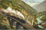 Postkarte Gotthardbahn Tessin Galleria Spirale Pianotondo Zug Color ~1910/20  #05 - TI Tessin