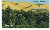 MAURITANIA   - MAURITEL (GSM RECHARGE) - DESERT   1500   EXP. 6.02   - USED  -  RIF. 809 - Mauritania