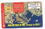 MONACO   - OFFICE TELEPHONE  (CHIP) -  1993 PRENEZ  LE BUS            - USED  -  RIF. 3895 - Monaco