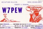 CARTE QSL CARD 1985 RADIOAMATEUR HAM RADIO USA W7-P FAR WEST SMOKE SIGNAL FUMEE RENO NEVADA INDIAN INDIENS ME CATCHUM - Indiens De L'Amerique Du Nord