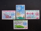 KUT 1973  I.M.O./W.M.O.  CENTENARY Issue 4 Values To 2/50  MNH. - Kenya, Uganda & Tanzania