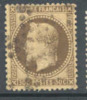 # France   34a, Used, 4 Mgns., Sound, Dark Brown  (fr034a-4,  Michel 29b Dunkelbraun  [16-CG - 1863-1870 Napoleon III With Laurels