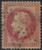 # France   36a, Used, 4 Magns.  Sound, Carmine,    (fr036a-1,  Michel 31  [16DL - 1863-1870 Napoleon III With Laurels