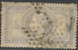 # France   37c, Used, VF, Bluish Grey, RARE      (fr037-8,  Michel 32  [16-ATYU - 1863-1870 Napoleon III With Laurels
