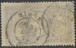 # France 37, Used, RARE, Grey Lil., 4 Maergins (fr037-10, Michel 32 [16-HBE - 1863-1870 Napoleon III With Laurels