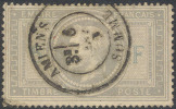 # France   37d, Used, Sound,   5 & F Light Blue, RARE (fr037-14,  Michel 32  [16-AAYU - 1863-1870 Napoleon III With Laurels
