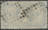 # France 37c, Used, 4 Mgns., 5 & F Lt Blue, Sound, RARE (fr037c-2, Michel 32 [16-AATY - 1863-1870 Napoleon III With Laurels
