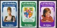 Saint Kitts St-Christophe 1982 Yvert N° 512-14 *** MNH Cote 40 FF Princesse Diana - St.Kitts-et-Nevis ( 1983-...)