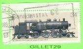 TIMBRE, CANADA -  TRAIN, CP CLASS P2A  TYPE 2-8-2  -  No 1071 - 0.34ç CENT - OBLITÉTÉ - - 1952-.... Règne D'Elizabeth II