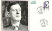 """CDG 100 """" Charles De  Gaulle Premier Jour """" 24 Février 1990 59-LILLE - De Gaulle (Général)"""