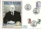 """CDG 106 """" 100e Anniversaire De La Naissance De Charles De Gaulle """" 8 Mai 1990 à 76-EU"""