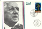 """CDG 108 """" 5e Anniversaire Du Mémorial """" 18 JUIN 1977 à  Colombey Les Deux églises - De Gaulle (Général)"""