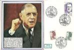 """CDG 109 """" 100e Anniversaire De La Naissance De Charles De Gaulle """" 8 Mai 1990 à 76-EU"""