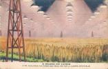 Série BYRRH Regards Sur L'Avenir  Années 40/50 -Insolation Nocturne Des Récoltes - Trade Cards