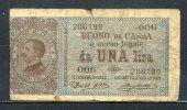 441- Italie Billet De 1 Lira 1914-006 - [ 5] Treasure