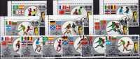 Flaggen Zur Fussball WM 1986 Mexiko Korea 2728/33+ 4-Block O 16€ Teams Des Jules-Rimet-Cup Soccer Flag Sheetlet Of Corea - Timbres