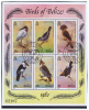 Belize 1980 Block With Tropical Birds, Cancelled, Michel Bl 18, 493 - 498, Cat Value € 60 - Collections, Lots & Series